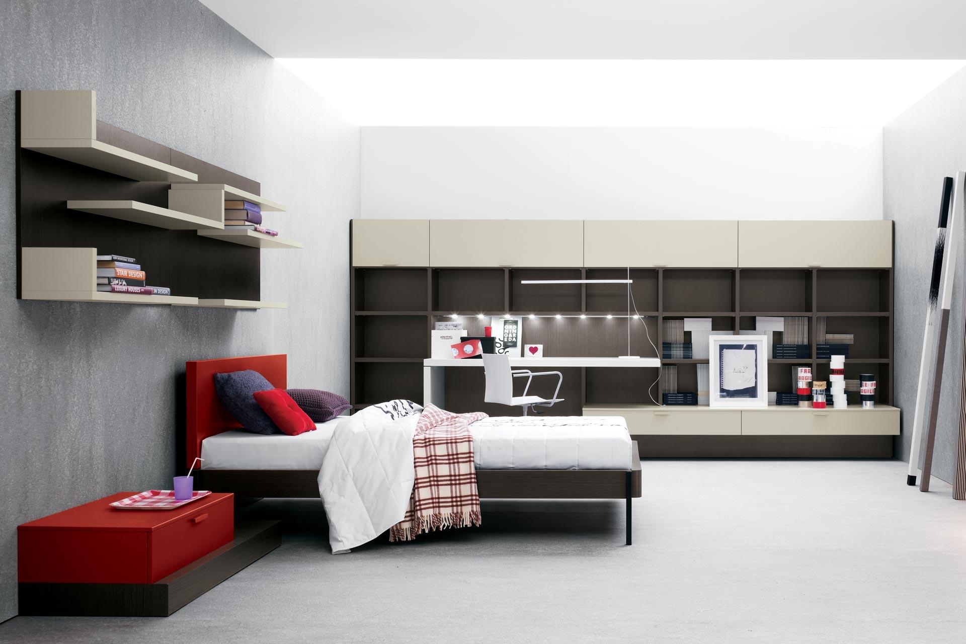 Camere Per Giovani : Cameretta 0004 area living